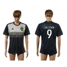 European Cup 2016 Sweden away 9 Kallstrom AAA+ soccer jerseys