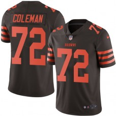 2016 Nike Cleveland Browns 72 Shon Coleman Brown Mens Stitched NFL Limited Rush Jersey