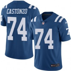 2016 Nike Indianapolis Colts 74 Anthony Castonzo Royal Blue Mens Stitched NFL Limited Rush Jersey