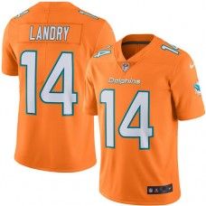 2016 Nike Miami Dolphins 14 Jarvis Landry Orange Mens Stitched NFL Limited Rush Jersey