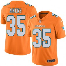 2016 Nike Miami Dolphins 35 Walt Aikens Orange Mens Stitched NFL Limited Rush Jersey