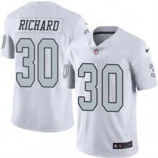 2016 Nike Oakland Raiders 30 Jalen Richard White Mens Stitched NFL Limited Rush Jersey