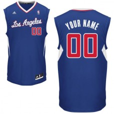 Men Adidas Los Angeles Clippers Custom Replica Alternate Blue NBA Jersey