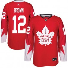 2017 NHL Toronto Maple Leafs Men 12 Connor Brown red jersey