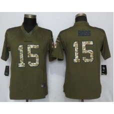 2017 NFL Women NEW Nike Cincinnati Bengals 15 Ross Anthracite Salute To Service Limited Jersey 2