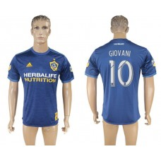 Men 2017-2018 club Los Angeles Galaxy away aaa version 10 blue soccer jersey