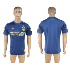 Men 2017-2018 club Los Angeles Galaxy away aaa version blank blue soccer jersey