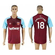 Men 2017-2018 club West ham at home 18 red aaa version soccer jersey