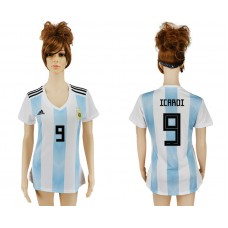 2018 World Cup Argentina home aaa version women 9 soccer jersey
