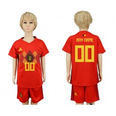 2018 World Cup Belgium home kids customized red soccer jersey