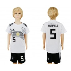 2018 World Cup Germany home kids 5 white soccer jersey