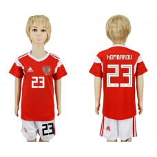 2018 World Cup Russia home kids 23 red soccer jersey
