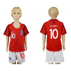 2018 World Cup England away kids 10 red soccer jersey