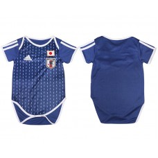2018 World Cup Japan home baby clothes blue soccer jersey