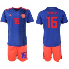 2018 World Cup Men Colombia away 16 soccer jersey