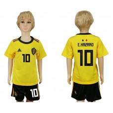 Youth 2018 World Cup Belgium away 10 yellow soccer jersey