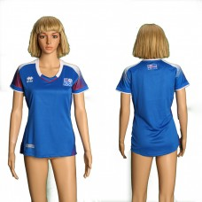 2018 World Cup Iceland home women soccer jersey