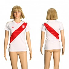 2018 World Cup Peru home women soccer jersey