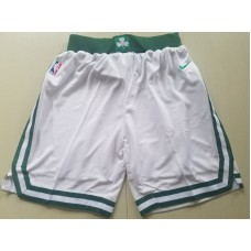 2018 Men NBA Nike Boston Celtics white shorts