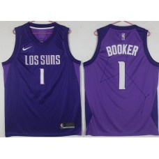 Men Phoenix Suns 1 Booker Purple Game Nike NBA Jerseys
