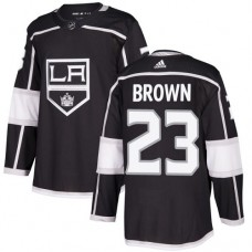 Adidas Los Angeles Kings 23 Dustin Brown Black Home Authentic Stitched Youth NHL Jersey