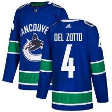 Adidas Men Vancouver Canucks 4 Michael Del Zotto Blue Home Authentic Stitched NHL Jersey