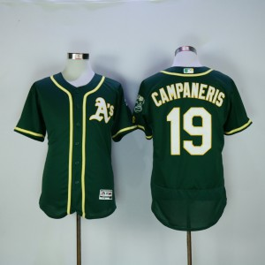 Men Oakland Athletics 19 Campaneris Green MLB Jerseys