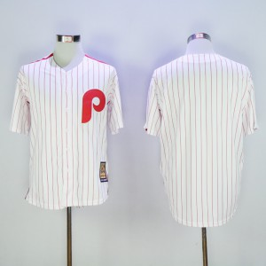 Men Philadelphia Phillies Blank White Throwback MLB Jerseys