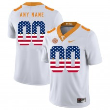Men Tennessee Volunteers 00 Any name White Flag Customized NCAA Jerseys
