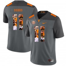 Men Tennessee Volunteers 11 Dobbs Grey Fashion Edition Customized NCAA Jerseys