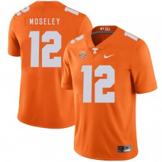 Men Tennessee Volunteers 12 Moseley Orange Customized NCAA Jerseys