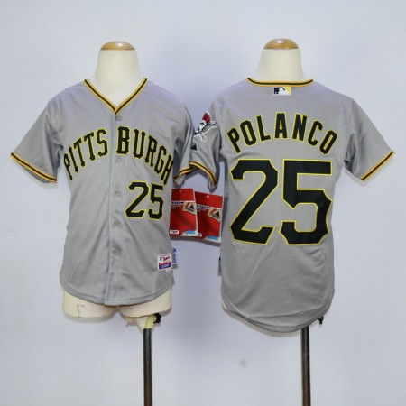 Youth Pittsburgh Pirates 25 Polanco Grey MLB Jerseys
