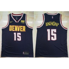 Men Denver Nuggets 15 Jokic Blue City Edition Game Nike NBA Jerseys