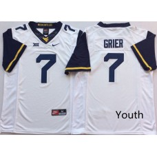 Youth West Virginia Mountaineers 7 Grier White Nike NCAA Jerseys