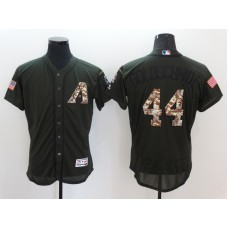 2016 MLB Arizona Diamondbacks 44 Goldschmidt Green Salute to Service Stitched Baseball Jersey