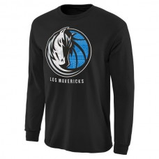 2016 NBA Dallas Mavericks Noches Enebea Long Sleeve T-Shirt - Black