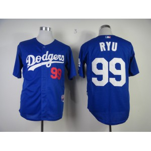 MLB Los Angeles Dodgers 99 Hyun-Jin Ryu Blue Jerseys