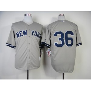 MLB New York Yankees 36 Kevin Youkilis Road Jerseys