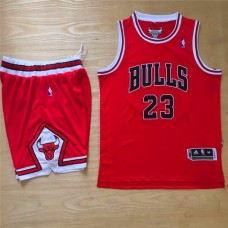 2016 NBA Chicago Bulls 23 Michael Jordan Red Jersey With Shorts