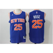 2016 NBA New York Knicks 25 Rose Blue Jerseys