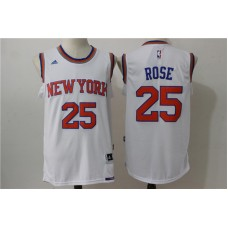 2016 NBA New York Knicks 25 Rose White Jerseys