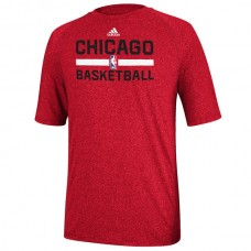 2016 NBA adidas Chicago Bulls Red Practice Performance T-Shirt