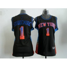 2017 Women NBA New York Knicks 1 Stoudemire black jerseys