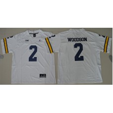 2016 NCAA Jordan Brand Michigan Wolverines 2 Charles Woodson White College Football Limited Jersey