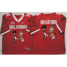 2016 NCAA Oklahoma Sooners 14 Bradford Red Limited Fashion Edition Jerseys