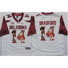2016 NCAA Oklahoma Sooners 14 Bradford White Limited Fashion Edition Jerseys