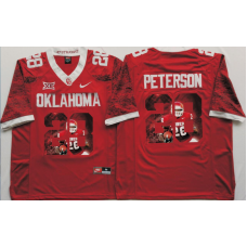2016 NCAA Oklahoma Sooners 28 Peterson Red Limited Fashion Edition Jerseys