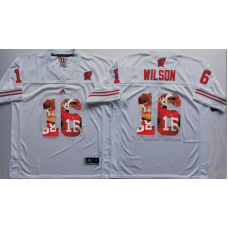 2016 NCAA Wisconsin Badgers 16 Wilson White Fashion Edition Jerseys