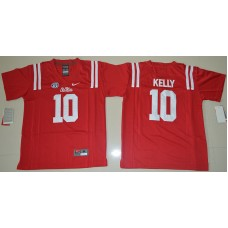 2016 Youth NCAA Ole Miss Rebels 10 Chad Kelly Red College Football Jersey