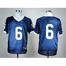 NCAA Penn State Nittany Lions 6 Navy Blue Nike College Football Jersey